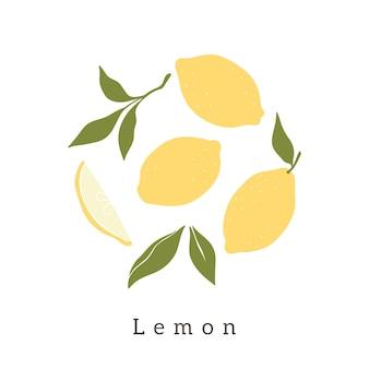 Limoni alla moda disegno vettoriale.