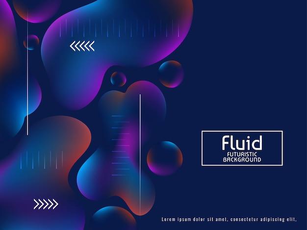 Elegante sfondo alla moda flusso liquido
