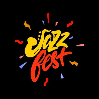 Logo elegante per un festival jazz in stile piatto. illustrazione vettoriale.