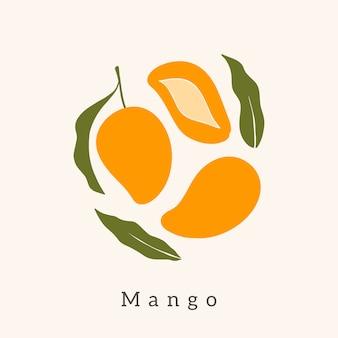 Elegante disegno vettoriale di mango.