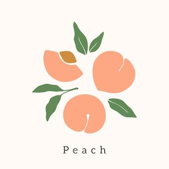 Elegante disegno vettoriale peach.