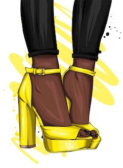 Sandali alla moda. calzature di moda.