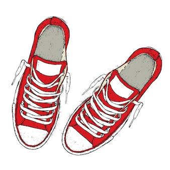 Sneakers e lacci alla moda