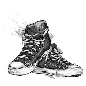 Eleganti sneakers con lacci