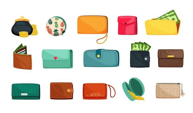 Set di portafogli alla moda