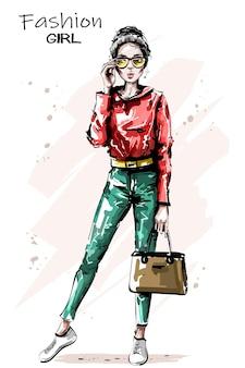 Borsa della holding della donna alla moda
