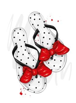 Sandali da donna alla moda.