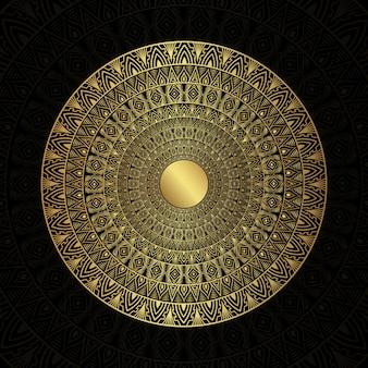 Mandala stilizzati zentangle ornamento floreale vettoriale