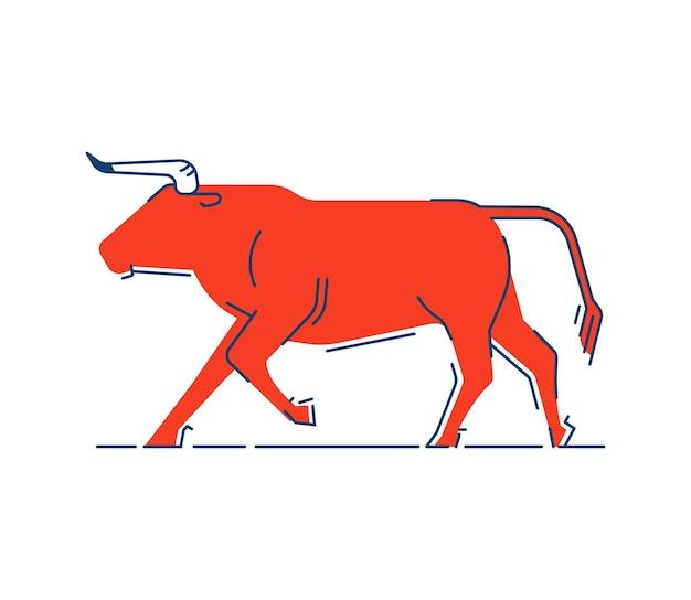 Sagoma stilizzata del toro in corsa