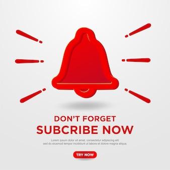 Pulsante sottoscrivi sullo sfondo di youtube