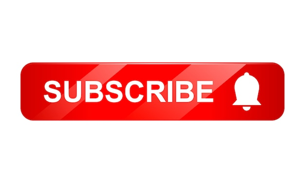 Abboni l'icona del bottone con la campana su fondo bianco, l'icona 3d, illustrazione realistica