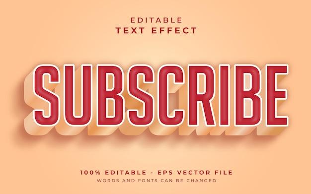Iscriviti effetto testo modificabile