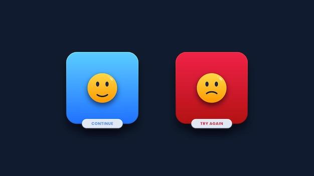 Interfaccia utente di notifica di successo e errore