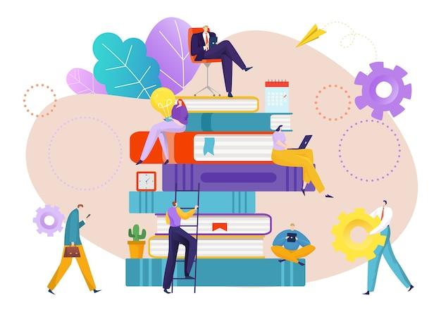 Idea di conoscenza del successo per uomini d'affari