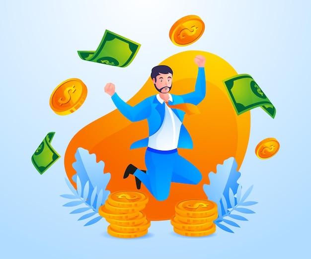 Gli uomini d'affari di successo fanno molti soldi