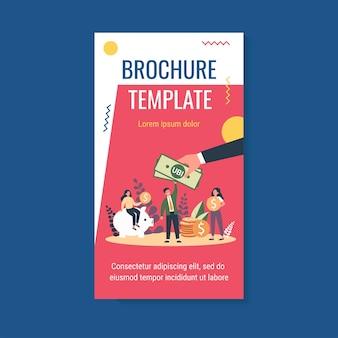 Modello di brochure per persone di successo che ottengono vantaggi, investono e risparmiano denaro