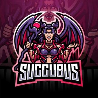 Succubus esport mascotte logo design