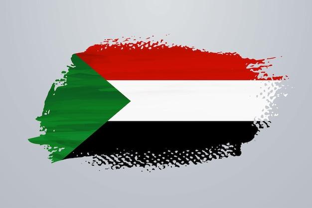Bandiera della pittura a pennello del sudan