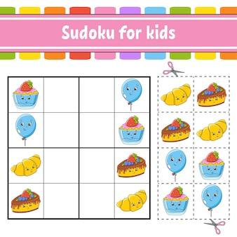 Sudoku per bambini foglio di lavoro per lo sviluppo dell'istruzione