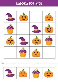 Gioco di logica sudoku con simpatici elementi di halloween.