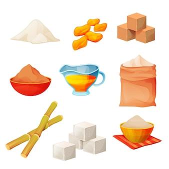 Set di prodotti di zucchero