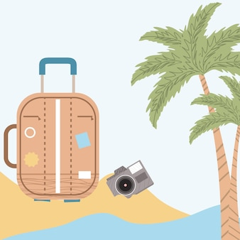 Valigia in spiaggia