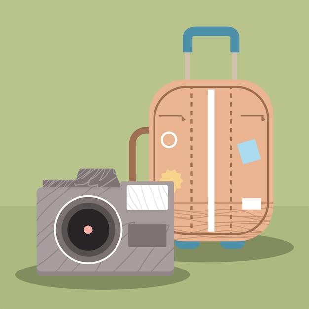 Valigia con fotocamera