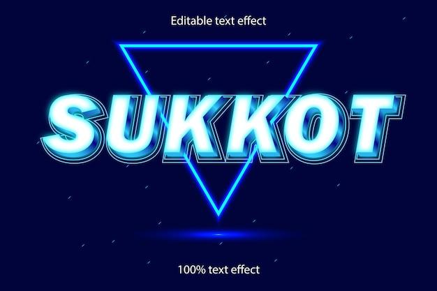 Sukkot effetto testo modificabile in stile neon