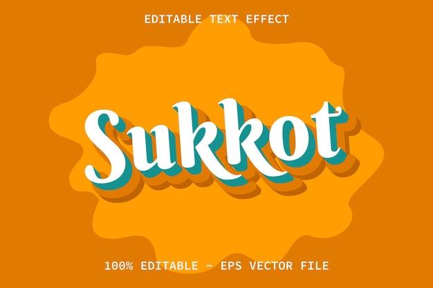 Sukkot con effetto di testo modificabile in stile cartone animato