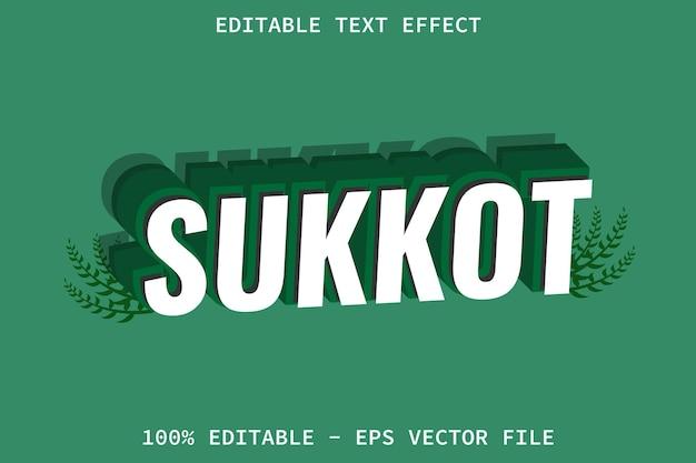 Sukkot con effetto di testo modificabile in stile moderno