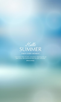 Sfondo estivo sfocato estate toropica