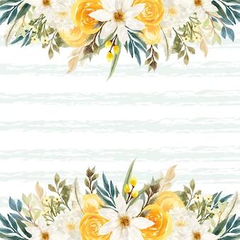 Sfondo estivo con fiori colorati