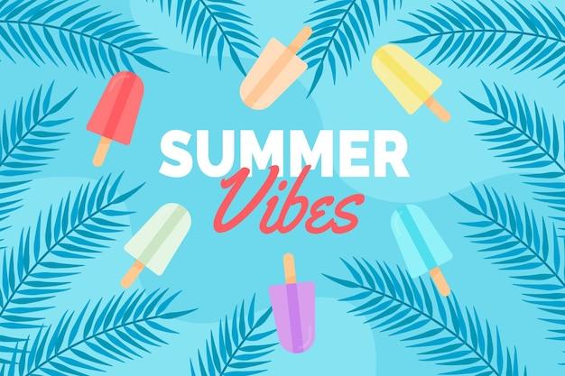 Sfondo estate con gelato