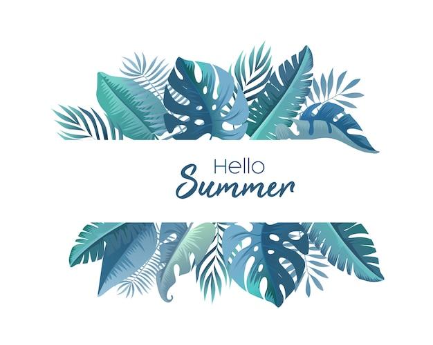 Sfondo estate con foglie tropicali