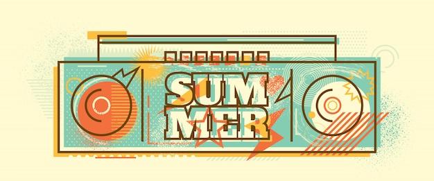 Design di banner di estate