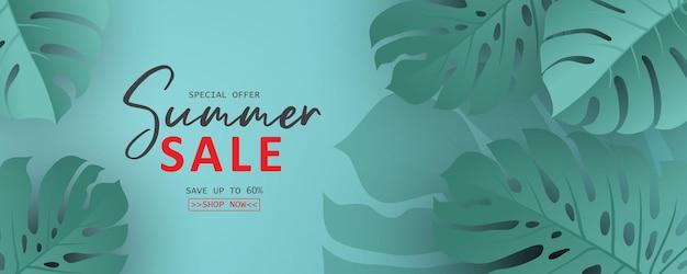 Modello di banner estivo per la raccolta pubblicitaria degli arrivi estivi o la promozione delle vendite stagionali