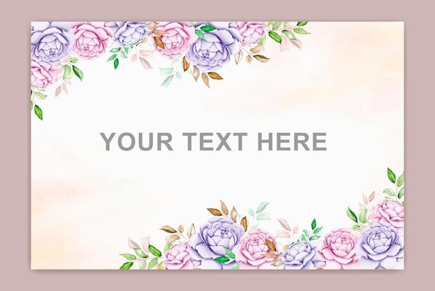 Banner estivo con foglia acquerello fiore
