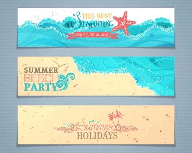 Set di banner estivi