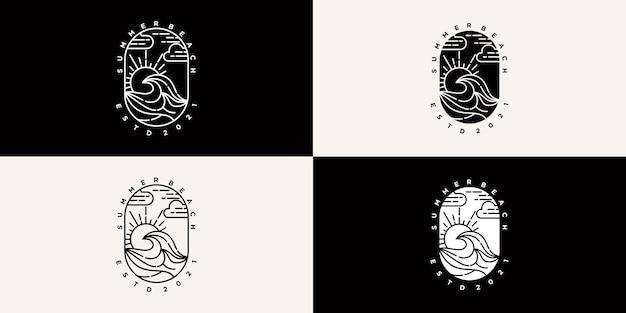 Logo della collezione design spiaggia estiva