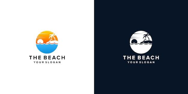 Design del logo della spiaggia estiva