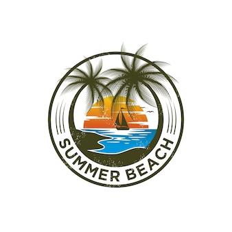 Modello di logo di summer beach