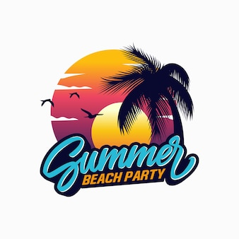 Logo summer beach
