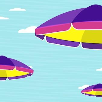 Ombrelloni estivi. illustrazione vettoriale piatto.