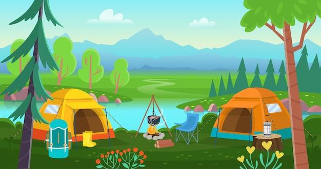 Campeggio estivo.