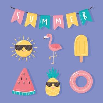Icone di celebrazione dell'estate
