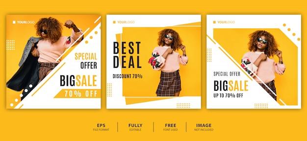 Estate / vendita di moda banner design