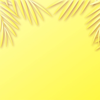Sfondo cornice estiva con ombra di foglie tropicali.