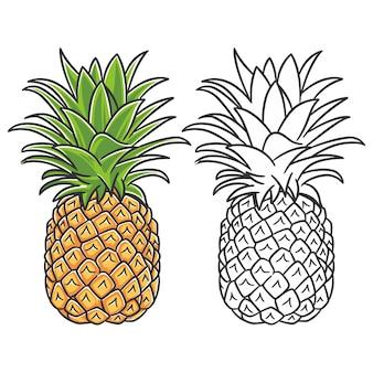 Frutta estiva per uno stile di vita sano. frutto di ananas