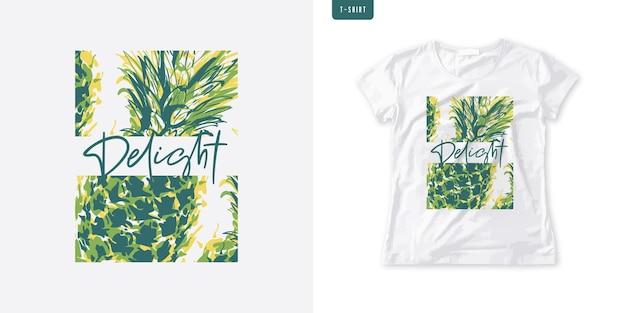 Maglietta delle donne grafiche estive con ananas