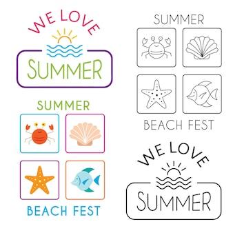 Collezione di illustrazioni per le vacanze estive